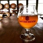 Gin Peche Lambic sour beer from Santiam Brewery